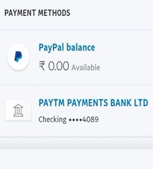 paypal account blance